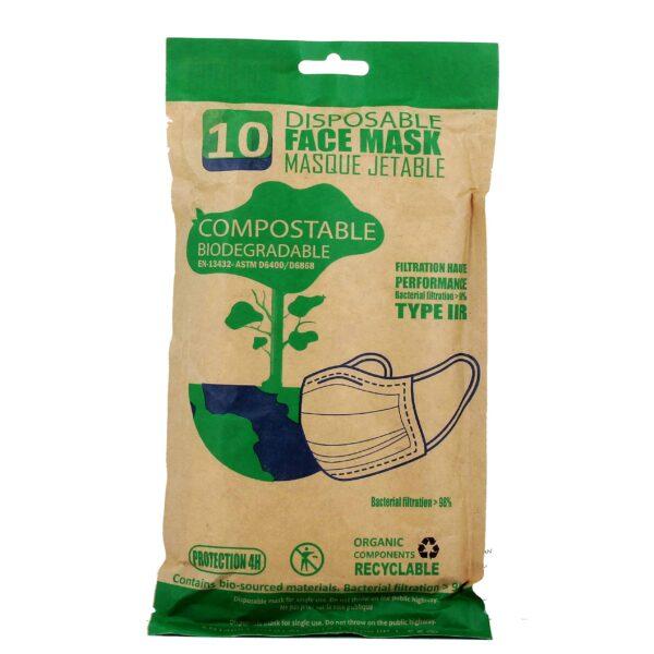 masque biocompostable-adulte type IIR